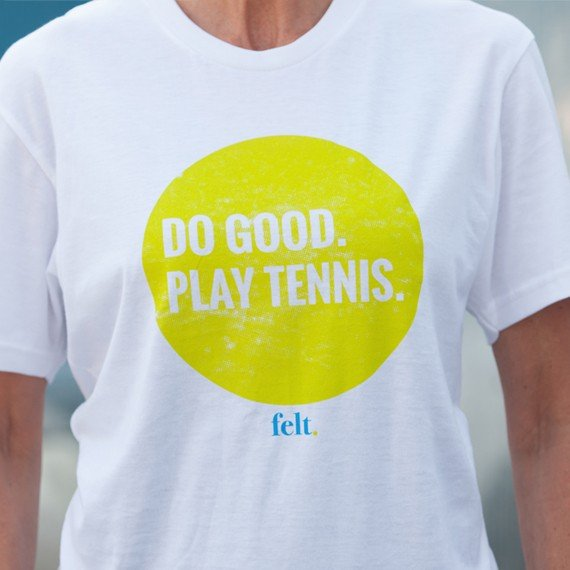 Classic Do Good. Play Tennis. T-shirt Woman